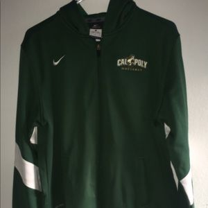 Cal Poly Zip Up Hoodie; Size Unisex Large